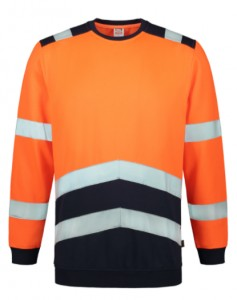 Bluza unisex T40 SWEATER HIGH VIS BICOLOR TRICORP pomarańczowa
